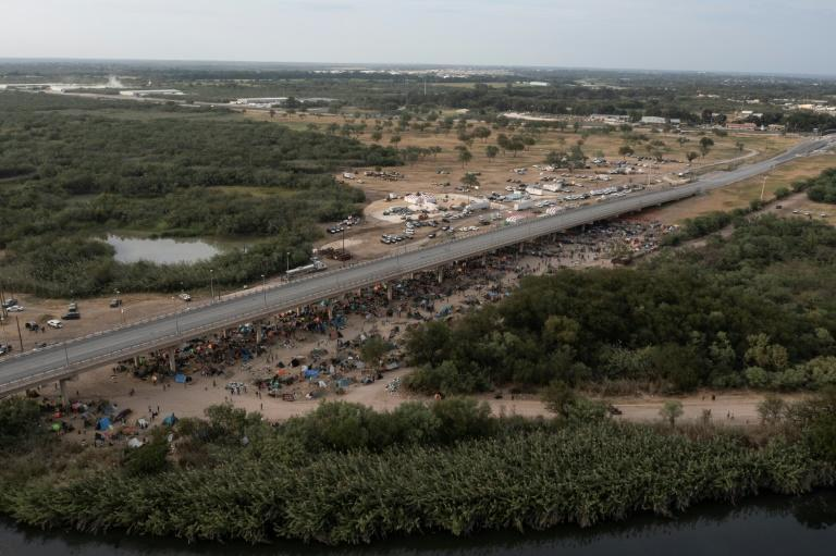Like thousands of other migrants, Andre ended up camped under the Del Rio bridge in Texas on the US-Mexico border -- and then was deported home to Haiti (AFP/PEDRO PARDO)