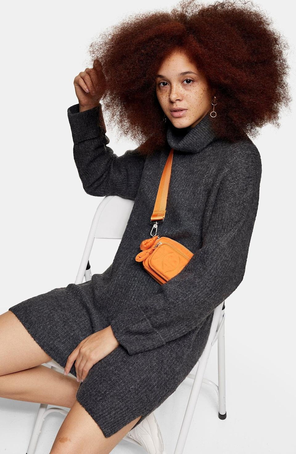 <p><span>Topshop Funnel Neck Sweater Dress</span> ($32, originally $75)</p>