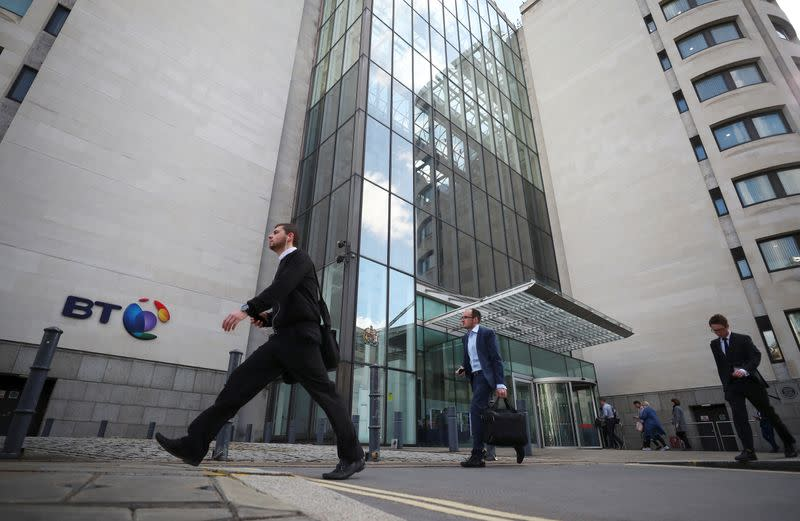 FILE PHOTO: British Telecom (BT)'s headquarters is seen in central London