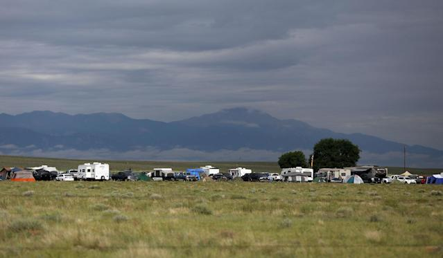 <p>View of the III% United Patriots' Field Training Exercise camp during a patriot event in the country, outside Fountain, Colo., July 29, 2017. (Photo: Jim Urquhart/Reuters) </p>