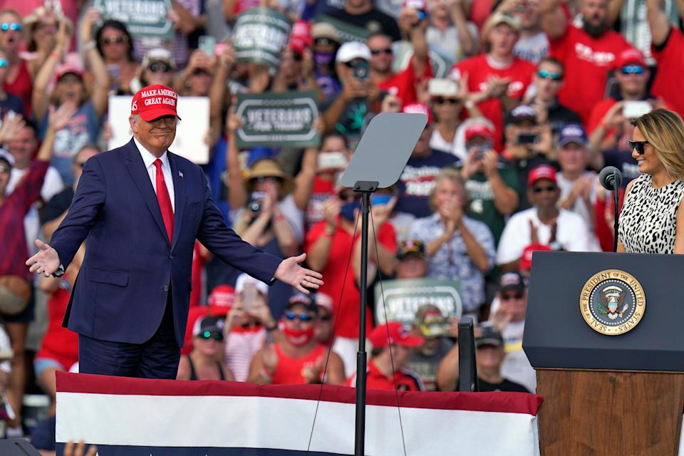 <p>What happens when there are no rallies to go to?</p> (Copyright 2020 The Associated Press. All rights reserved.)