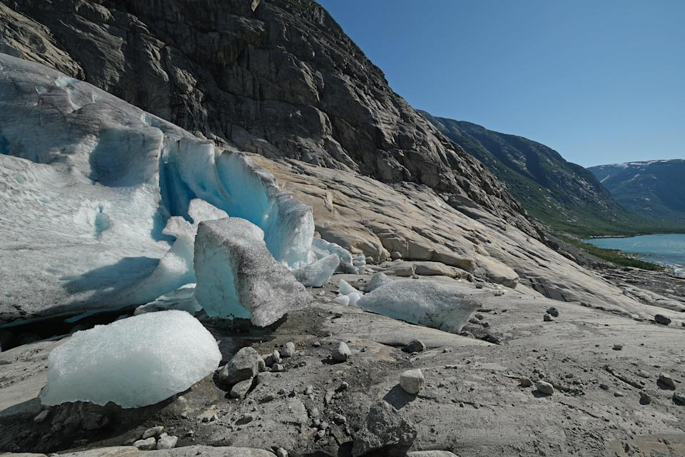 <p>File image: Scientists believe 'glacier blood' could be an indicator of worsening climate crisis </p> (Getty Images)