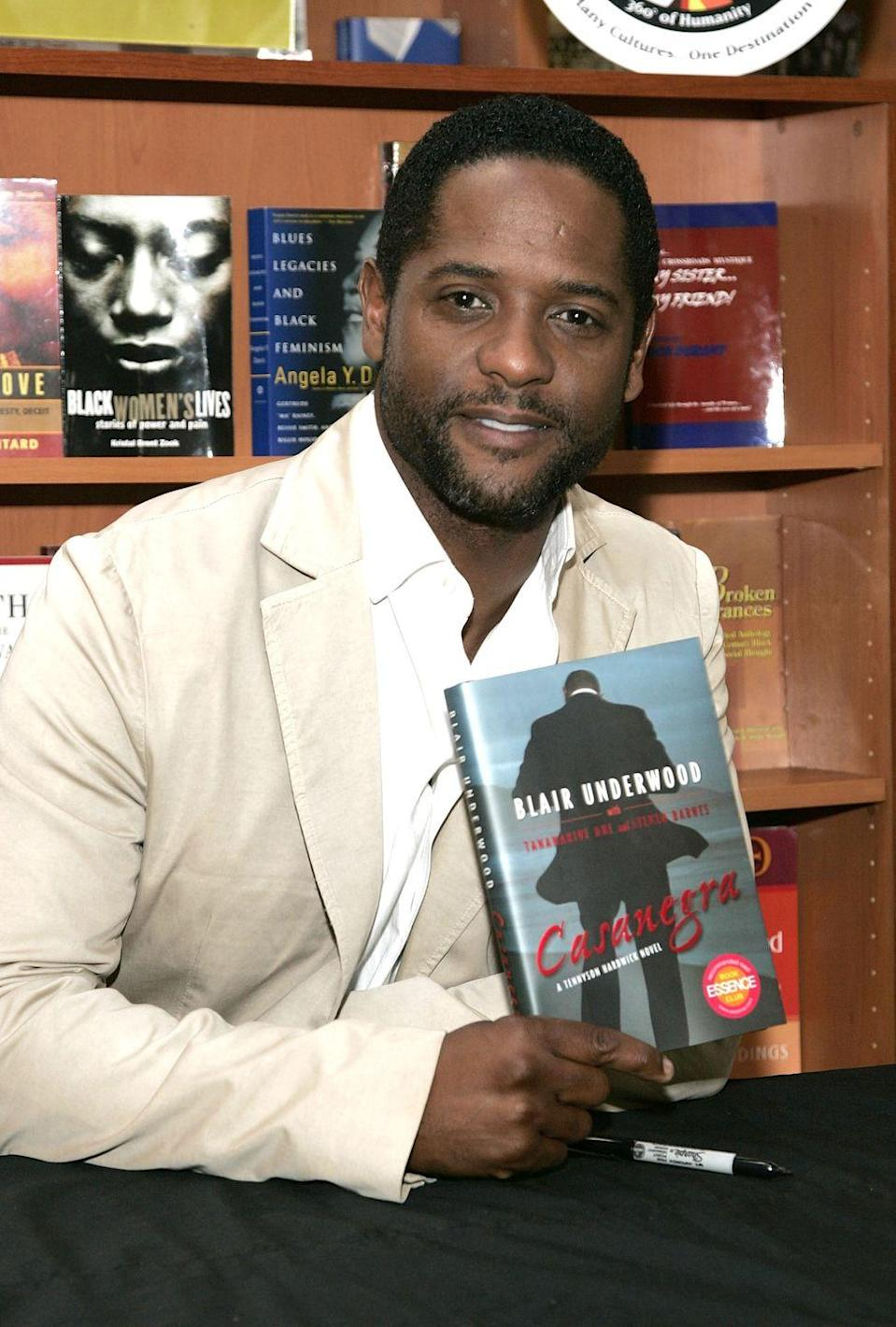 """<p>For those looking for a book about a sexy, former male escort turned amateur sleuth (and who isn't?), look no further than the Tennyson Hardwick series by Blair Underwood. The <em>L.A. Law</em> star set the mystery novels against the backdrop of Hollywood, hip-hop, violence, and betrayal that results in an erotic, noir read.</p><p><em>Casanegra</em>, the title a tongue-in-cheek reference to <em>Casablanca,</em> according to the <em><a href=""""https://www.latimes.com/archives/la-xpm-2007-aug-14-et-underwood14-story.html"""" rel=""""nofollow noopener"""" target=""""_blank"""" data-ylk=""""slk:Los Angeles Times"""" class=""""link rapid-noclick-resp"""">Los Angeles Times</a></em>, is the first novel to feature Hardwick (there are now four), and Blair told the paper that he hopes there is a <em>Casanegra</em> movie one day. Us too, Blair. Us, too. </p><p><a class=""""link rapid-noclick-resp"""" href=""""https://www.amazon.com/Casanegra-Blair-Underwood/dp/0743287312/ref=sr_1_4?crid=269AKXI4931HP&dchild=1&keywords=blair+underwood+books&qid=1599799930&s=books&sprefix=blair+under%2Cstripbooks%2C162&sr=1-4&tag=syn-yahoo-20&ascsubtag=%5Bartid%7C2140.g.33987725%5Bsrc%7Cyahoo-us"""" rel=""""nofollow noopener"""" target=""""_blank"""" data-ylk=""""slk:Buy the Book"""">Buy the Book</a></p>"""