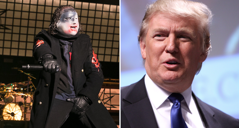"""Slipknot's Corey Taylor: President Trump and the people who voted for him are """"f**king morons"""""""