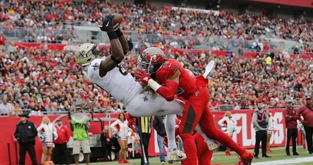 Saints' Jared Cook does big damage vs. Tampa Bay, and it only took two catches