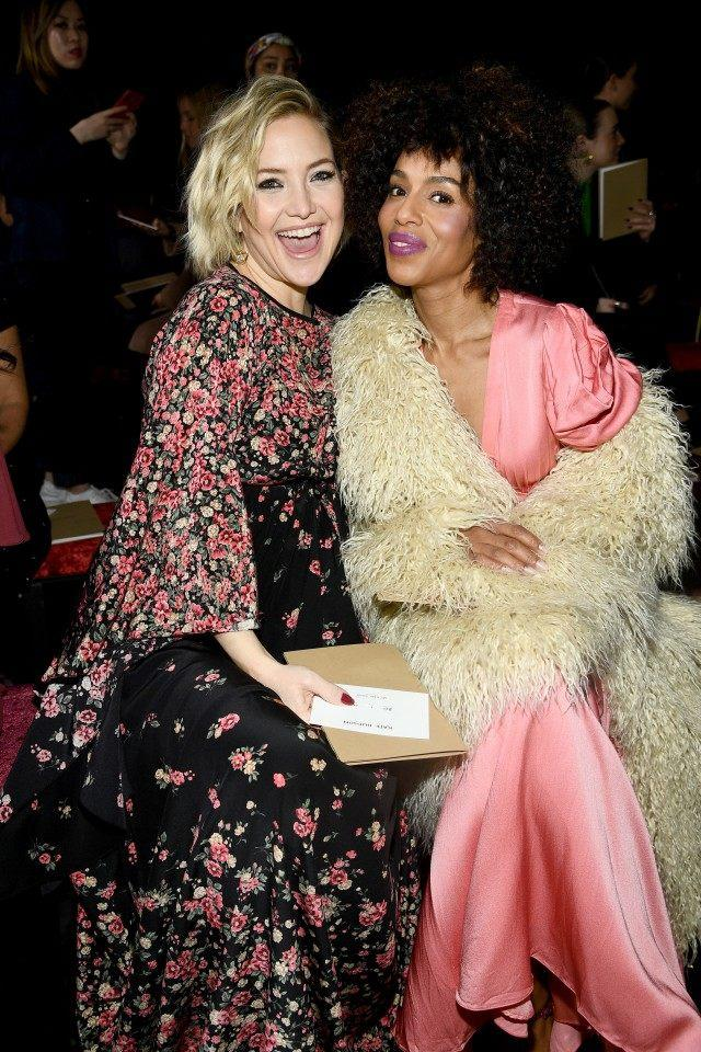 Kate Hudson and Kerry Washington at Michael Kors show
