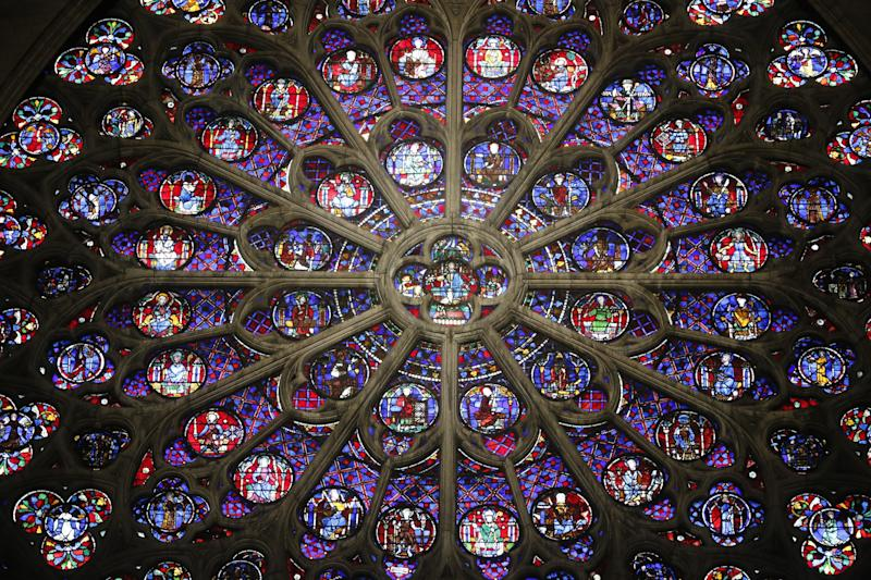 The South Rose of Notre Dame cathedral in Paris.