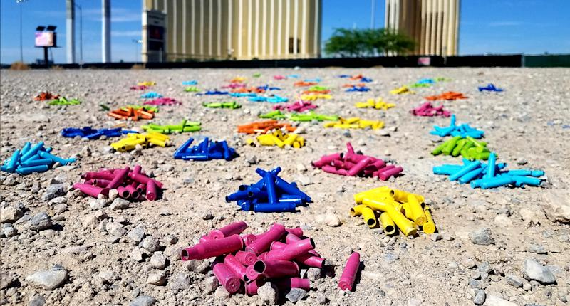 Bullet casings in Las Vegas, where the largest mass shooting in U.S. history took place. (Photo: Maureen Cain)