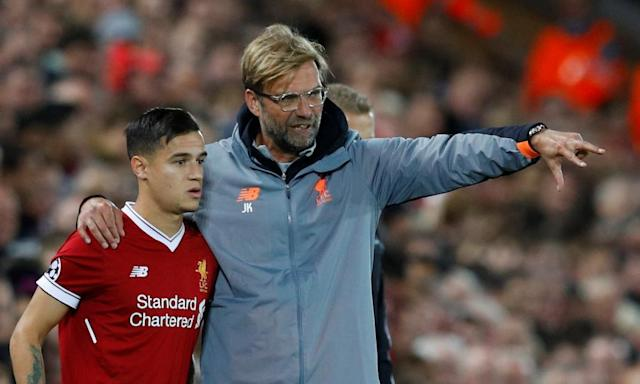 """<span class=""""element-image__caption"""">Jürgen Klopp has lost Phiippe Coutinho but unlike when Luis Suárez or even Raheem Sterling left Liverpool, the most important person at the club is still in place.</span> <span class=""""element-image__credit"""">Photograph: Phil Noble/Reuters</span>"""