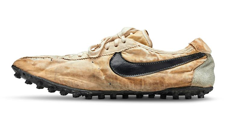 The rare 'Moon Shoes' by Nike fetched an eye-watering amount at auction [Photo: Unruh Jones]