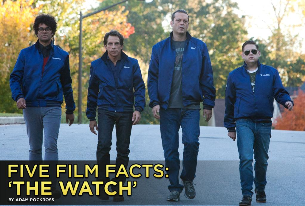 "Ben Stiller, Vince Vaughn, Jonah Hill, and newcomer Richard Ayoade serve up some out-of-this-world laughs this weekend with the R-rated comedy ""<a href=""http://movies.yahoo.com/movie/watch/"">The Watch</a>."" The fearsome foursome play an oddball group of suburbanites who form a neighborhood watch chapter as a means of escaping their domestic boredom. The crew is anything but bored when they discover their small town has been infiltrated by alien invaders trying to take over the world. We all know the fate of the world is in good hands, but here are five facts about the film you might not know."
