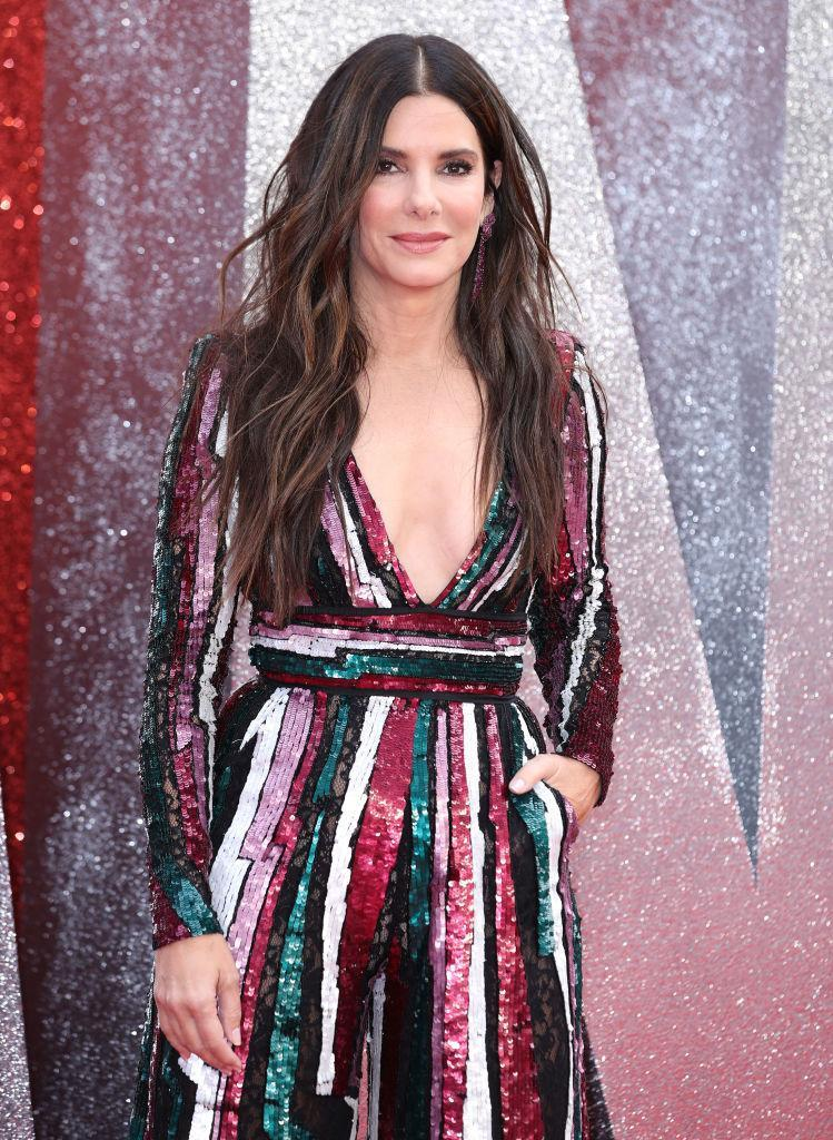 """Sandra Bullock credits the """"Hollywood EGF Facial"""" for looking youthful. (Photo: Mike Marsland/WireImage)"""