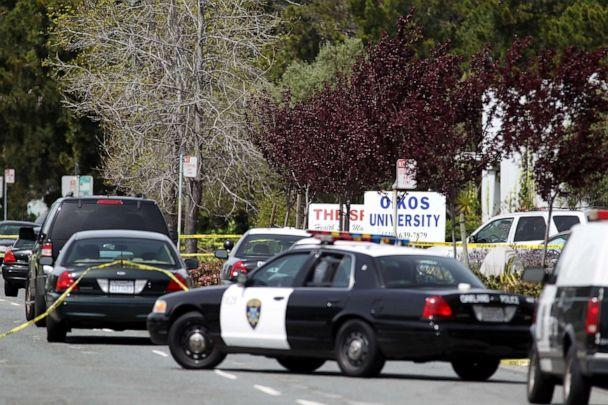 PHOTO: Police secure the scene at Oikos University after a shooting that killed multiple people, April 2, 2012, in Oakland, Calif. (Jed Jacobsohn/Getty Images)
