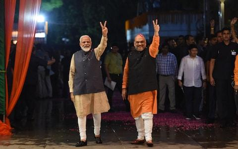 <span>Modi vowed to build an 'inclusive' India after a first term marred by accusations of fomenting religious hatred</span> <span>Credit: AFP </span>