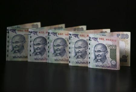Indian Rupee notes are seen in this picture illustration taken in Mumbai