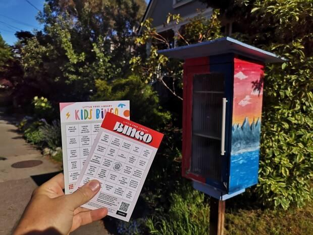 There are two types of Little Free Library Bingo cards—one for a general audience and another just for kids.