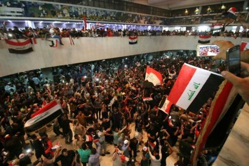 Thousands of protesters storm Iraq parliament in Green Zone