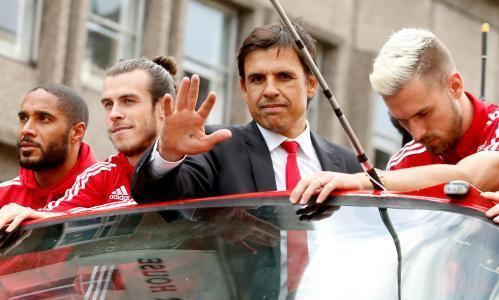 Chris Coleman and Welsh crew