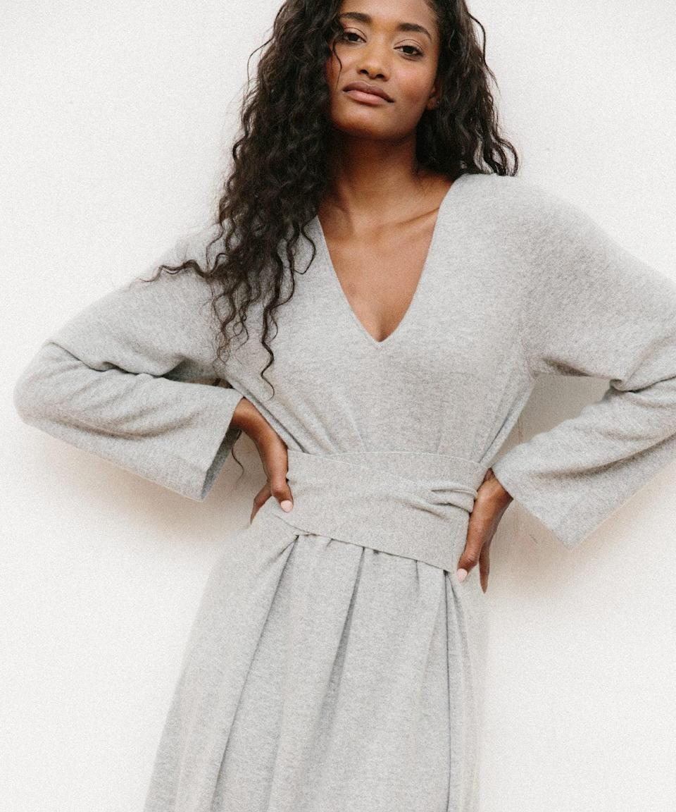 """<h2>Jenni Kayne Everyday Kate Sweater Dress</h2><br><em><strong>The Maxi </strong></em><br><br>Despite its name, this Jenni Kayne number is <em>not</em> your average sweater dress. Its ankle-skimming silhouette makes for a warm and luxurious staple item that you'll never want to change out of. <br><br><strong>The Hype: </strong>5 out of 5 stars; 4 reviews on JenniKayne.com<br><br><strong>What They're Saying</strong>: """"I am obsessed with this dress!! I received so many compliments wearing it to work today, and felt pulled together and beautiful, while also staying extremely warm and comfy. It's the perfect thickness, and fit wonderfully under a jacket. I am already looking at buying it in more colors to add to my wardrobe!"""" — Shaya R., Jenni Kayne reviewer<br><br><em>Shop</em> <strong><em><a href=""""https://www.jennikayne.com/category/clothing/dresses/everyday-kate-sweater-dress-heather-grey"""" rel=""""sponsored"""" target=""""_blank"""" data-ylk=""""slk:Jenni Kayne"""" class=""""link rapid-noclick-resp"""">Jenni Kayne</a></em></strong><br><br><strong>Jenni Kayne</strong> Everyday Kate Sweater Dress, $, available at <a href=""""https://go.skimresources.com/?id=30283X879131&url=https%3A%2F%2Fwww.jennikayne.com%2Fcategory%2Fclothing%2Fdresses%2Feveryday-kate-sweater-dress-heather-grey"""" rel=""""sponsored"""" target=""""_blank"""" data-ylk=""""slk:Jenni Kayne"""" class=""""link rapid-noclick-resp"""">Jenni Kayne</a>"""