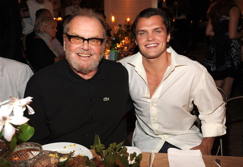 """<p>Thankfully, Ray's mother, Rebecca Broussard, intervened. Had she not """"held out,"""" Ray likely would've been named Landslide. """"<a href=""""https://www.vanityfair.com/hollywood/1994/04/jack-nicholson-wolf-rebecca-broussard-breakup"""" class=""""link rapid-noclick-resp"""" rel=""""nofollow noopener"""" target=""""_blank"""" data-ylk=""""slk:Ray may have a problem"""">Ray may have a problem</a> with being a little too good-looking,"""" Jack said in a 1994 interview with <strong>Vanity Fair</strong>. """"Looks exactly like Rebecca. When he was born, he looked like one of the farmers in <strong>The Magnificent Seven</strong>. He does move like me. There's a lot of body language on him. You don't miss them Nicholson legs. Somebody's got to get them, poor thing. They're useful but short. Most infants pretty much don't have chins. But Ray always had a jaw. You can't wait to get him into a collar or a shaving commercial.""""</p>"""