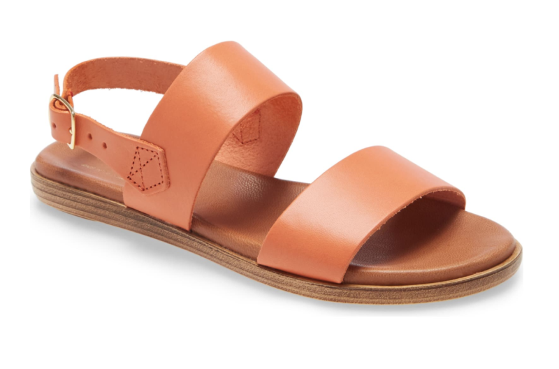 Bos. & Co. Vikki Quarter Strap Sandal in Orange Leather