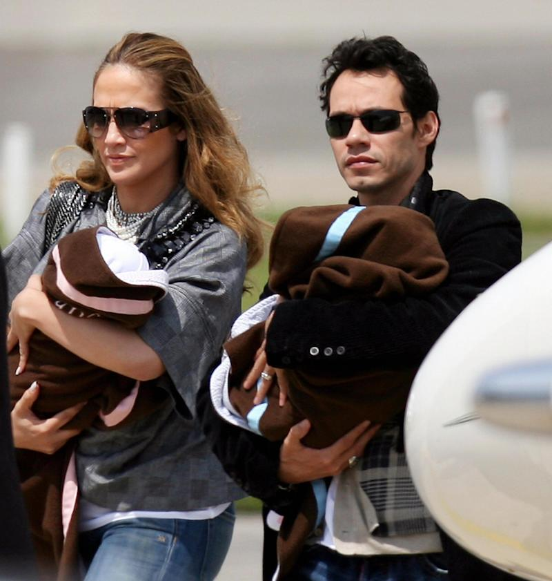 Jennifer Lopez and Marc Antony with their twins (Getty Images)
