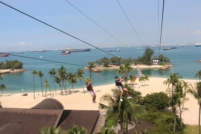 Zip line at Mega Adventure on Sentosa. Mega Adventure caters to adventure tourists from all over the world with the help of WishTrip, a tourism experience management platform and smart tourism solution.