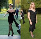 """<p>Princess Diana's black off-the-shoulder mini dress, designed by Christina Stambolian, is known as <a href=""""https://people.com/royals/princess-diana-revenge-dress-true-story/"""" rel=""""nofollow noopener"""" target=""""_blank"""" data-ylk=""""slk:&quot;The Revenge Dress.&quot;"""" class=""""link rapid-noclick-resp"""">""""The Revenge Dress.""""</a> Decades later, her niece, Lady Kitty Spencer, wore a similar style—statement jewels included—to a London charity function in 2017.</p>"""