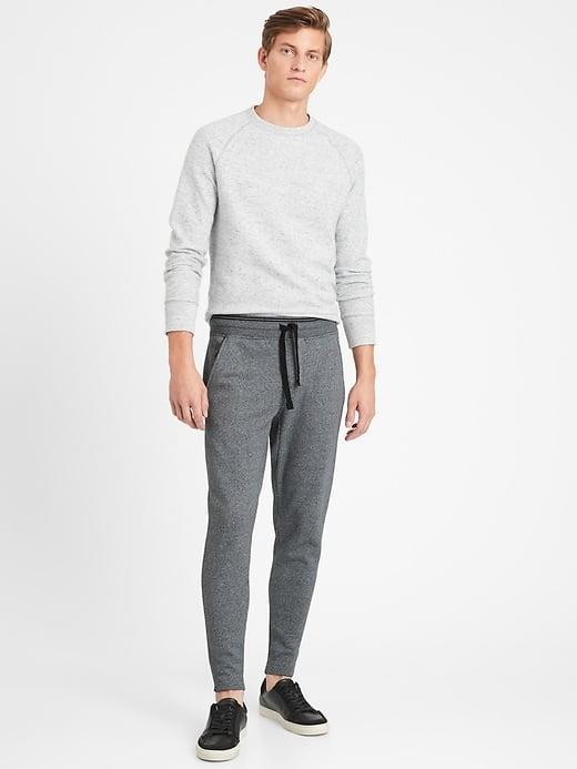 <p>When temperatures drop, he'll surely want to grab his new <span>Banana Republic Heavyweight French Terry Joggers</span> ($90) to stay warm. For a (literal) total package, add this <span>Banana Republic Heavyweight French Terry Sweatshirt</span> ($90) for a complete set.</p>