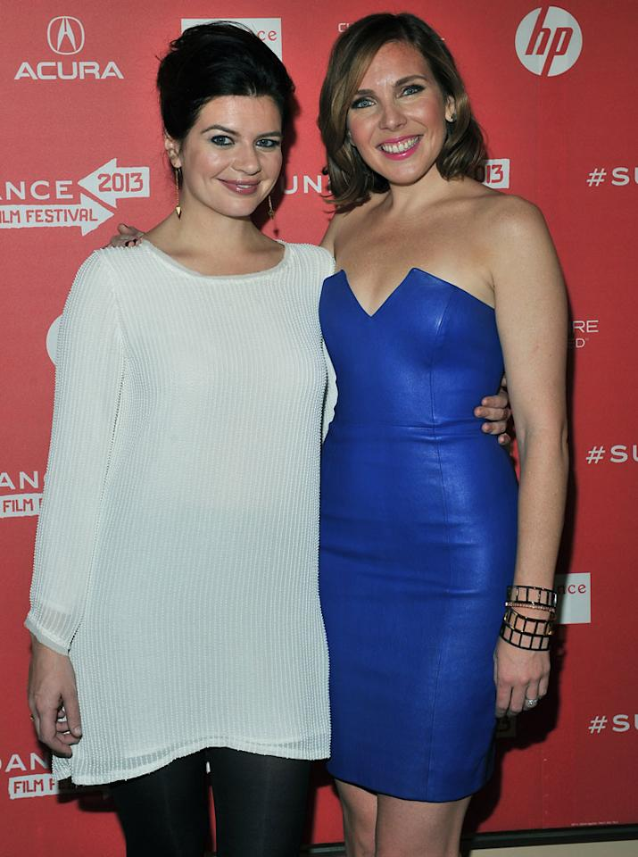 """PARK CITY, UT - JANUARY 21:  (L-R) Actors Casey Wilson and June Diane Raphael attend the """"Ass Backwards"""" premiere at Egyptian Theatre during the 2013 Sundance Film Festival on January 21, 2013 in Park City, Utah.  (Photo by Sonia Recchia/Getty Images)"""