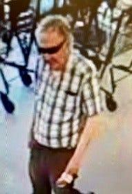 The suspect who wiped his nose on a Dollar Tree clerk.