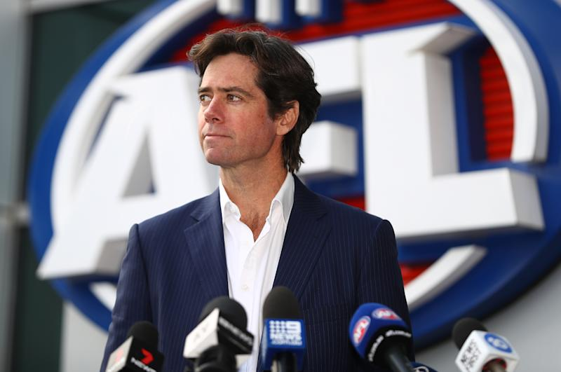 AFL CEO Gillon McLachlan is pictured.