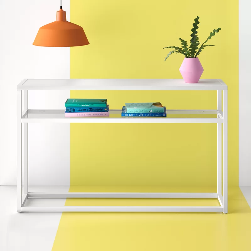 """<h2>20% Off Hashtag Home Detweiler Console Table</h2><br><strong>863 reviews and 4.6 out of 5 stars</strong><br>""""I needed a narrow entranceway console for keys, Covid supplies - a place to drop things on the way in and on the way out of my condo. This was perfect. It is modern, narrow, and solid. It was easy to put together - I am 65 and a single woman."""" <em>– Wayfair Reviewer</em><br><br><em>Shop <strong><a href=""""https://www.wayfair.com/furniture/pdp/hashtag-home-detweiler-5025-console-table-w003245629.html"""" rel=""""nofollow noopener"""" target=""""_blank"""" data-ylk=""""slk:Wayfair"""" class=""""link rapid-noclick-resp"""">Wayfair</a></strong></em><br><br><strong>Hashtag Home</strong> Detweiler 50.25'' Console Table, $, available at <a href=""""https://go.skimresources.com/?id=30283X879131&url=https%3A%2F%2Fwww.wayfair.com%2Ffurniture%2Fpdp%2Fhashtag-home-detweiler-5025-console-table-w003245629.html"""" rel=""""nofollow noopener"""" target=""""_blank"""" data-ylk=""""slk:Wayfair"""" class=""""link rapid-noclick-resp"""">Wayfair</a>"""