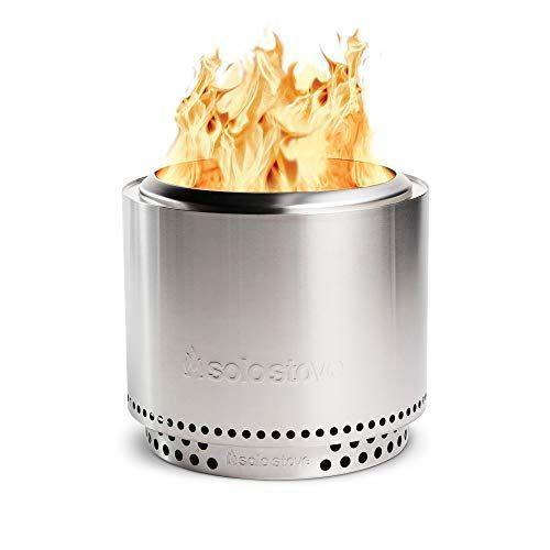 """<p><strong>Solo Stove</strong></p><p>amazon.com</p><p><strong>$349.98</strong></p><p><a href=""""https://www.amazon.com/dp/B07MTQBSMV?tag=syn-yahoo-20&ascsubtag=%5Bartid%7C10055.g.36014739%5Bsrc%7Cyahoo-us"""" rel=""""nofollow noopener"""" target=""""_blank"""" data-ylk=""""slk:Shop Now"""" class=""""link rapid-noclick-resp"""">Shop Now</a></p><p>Wood-burning fire pits are beloved for the campfire-like experience they provide, but nobody wants to choke on smoke or have that smell cling to their hair and clothes. Solo Stove makes the <strong>lowest-smoke wood-burning fire pits we found,</strong> thanks to an advanced airflow system that promotes efficient combustion. The Solo Stove comes in three different size options: The compact <a href=""""https://www.amazon.com/Solo-Stove-Ranger-Stand-Fire/dp/B07MDDQ3BD/?tag=syn-yahoo-20&ascsubtag=%5Bartid%7C10055.g.36014739%5Bsrc%7Cyahoo-us"""" rel=""""nofollow noopener"""" target=""""_blank"""" data-ylk=""""slk:Ranger"""" class=""""link rapid-noclick-resp"""">Ranger</a>, the mid-sized <a href=""""https://www.amazon.com/dp/B07MTQBSMV?tag=syn-yahoo-20&ascsubtag=%5Bartid%7C10055.g.36014739%5Bsrc%7Cyahoo-us"""" rel=""""nofollow noopener"""" target=""""_blank"""" data-ylk=""""slk:Bonfire"""" class=""""link rapid-noclick-resp"""">Bonfire</a>, and the large <a href=""""https://www.amazon.com/dp/B08C5LZ1ZY/?tag=syn-yahoo-20&ascsubtag=%5Bartid%7C10055.g.36014739%5Bsrc%7Cyahoo-us"""" rel=""""nofollow noopener"""" target=""""_blank"""" data-ylk=""""slk:Yukon"""" class=""""link rapid-noclick-resp"""">Yukon</a>. They all share an identical stainless steel cylindrical design, but we think the Bonfire will suit most people, with enough depth for logs and space for a small group to gather around.</p>"""
