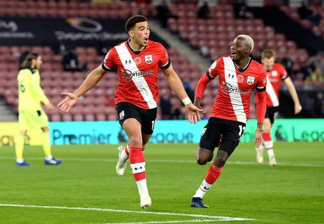 Southampton moved top of the Premier League for the first time in their history with victory over Newcastle in early November (Stu Forster/PA)