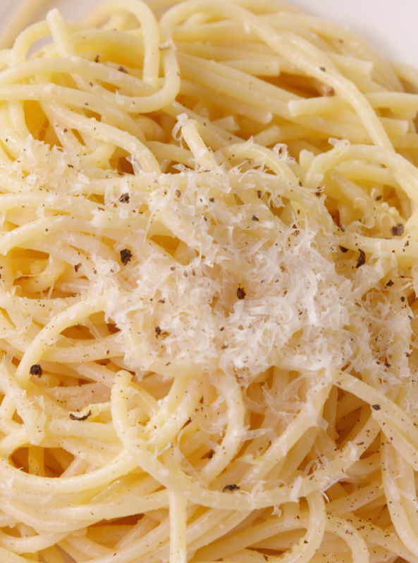 """<p>This simple pasta is a tangy, cheesy flavor bomb.</p><p>Get the recipe from <a href=""""https://www.delish.com/cooking/recipe-ideas/recipes/a48669/three-ingredient-spaghetti-recipe/"""" rel=""""nofollow noopener"""" target=""""_blank"""" data-ylk=""""slk:Delish"""" class=""""link rapid-noclick-resp"""">Delish</a>.</p>"""