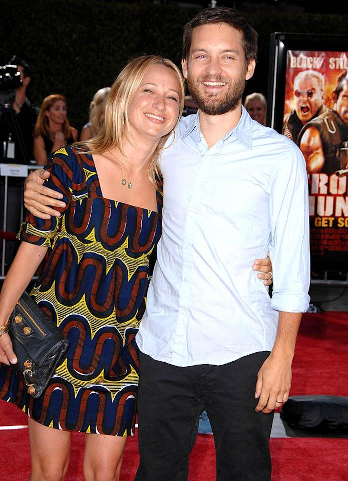 """Spider-Man"" star Tobey Maguire and his wife, Jennifer Meyer, welcomed their second child, a boy, Otis Tobias Maguire, on May 8. Maguire, 33, and Meyer, 31, are also parents to daughter Ruby, 3. Steve Granitz/<a href=""http://www.wireimage.com"" target=""new"">WireImage.com</a> - August 11, 2008"