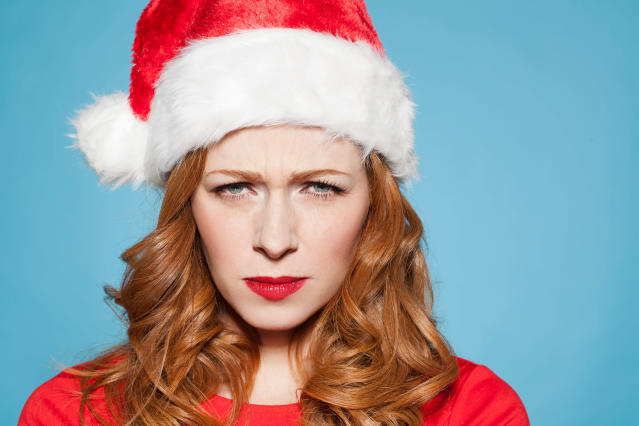 When you hate the holidays. (Photo: Getty Images)
