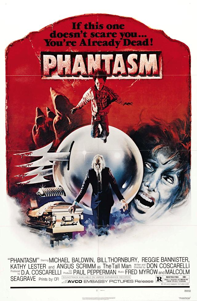 The poster for 1979 horror film Phantasm.