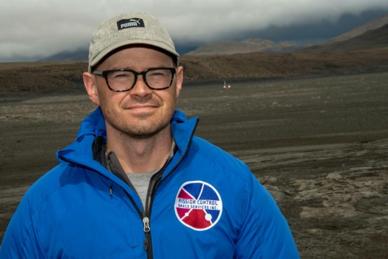 "Adam Deslauriers, of Canada's Mission Control Space Services, said the prototype rover being used on the Icelandic lava field was ""basically indestructible"" (AFP Photo/Halldor KOLBEINS)"
