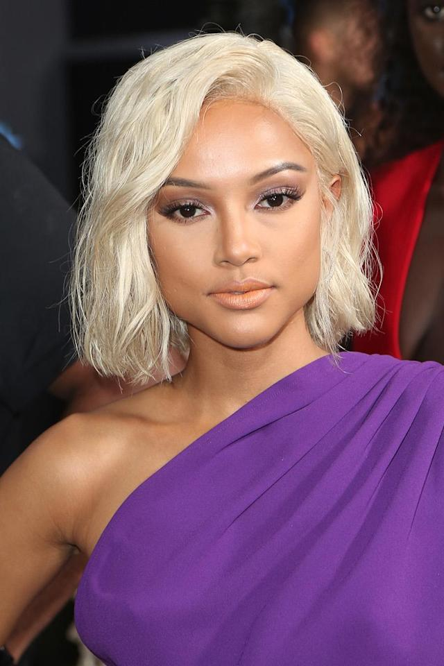 <p>Karrueche's touseld wavy blond bob is a perfect addition to add to your summer beauty inspiration board. (Photo: Getty Images) </p>