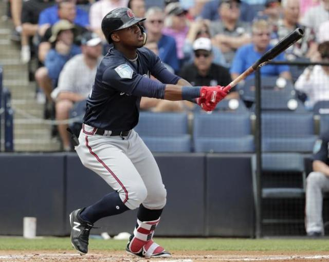 Ronald Acuna, a 20-year-old outfield prospect for the Braves, could baseball's next big superstar. (AP)