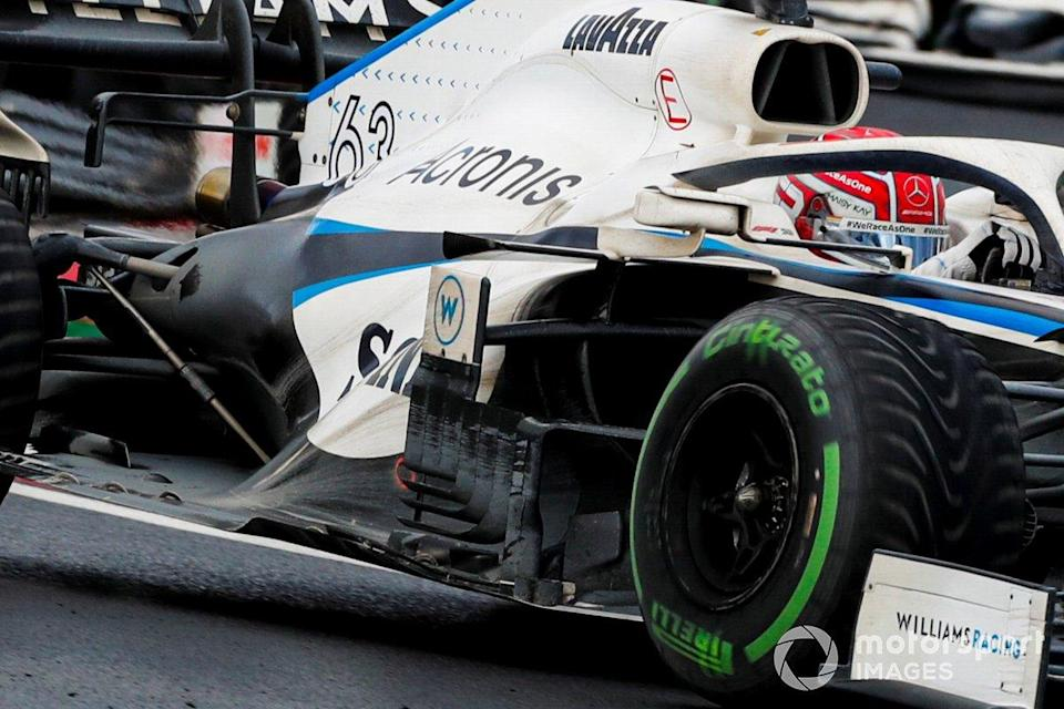 """Williams FW43 sidepods detail<span class=""""copyright"""">Steven Tee / Motorsport Images</span>"""