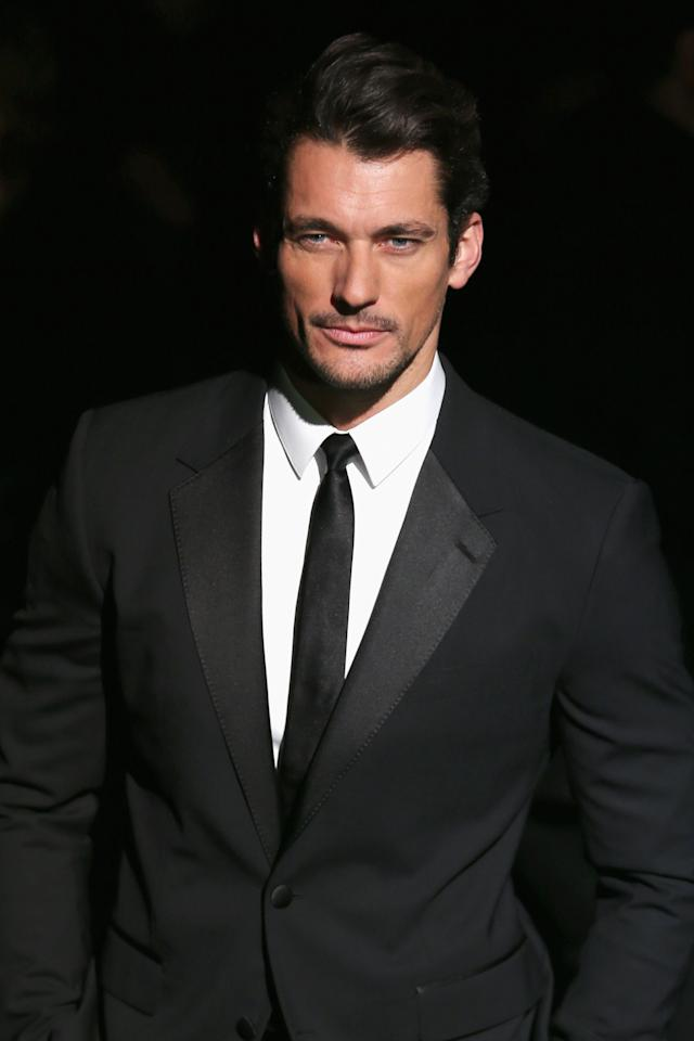 MILAN, ITALY - FEBRUARY 24:  David Gandy attends the Dolce & Gabbana fashion show as part of Milan Fashion Week Womenswear Fall/Winter 2013/14 on February 24, 2014 in Milan, Italy.  (Photo by Vittorio Zunino Celotto/Getty Images)
