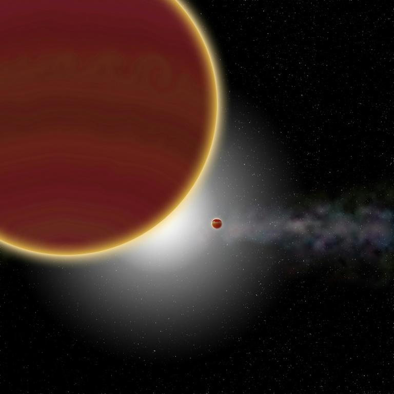 Artist's view of the planetary system β Pictoris