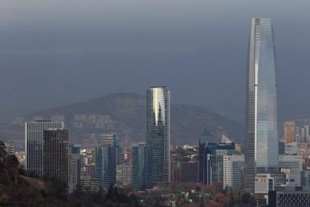 FILE PHOTO: Panoramic view of the city of Santiago