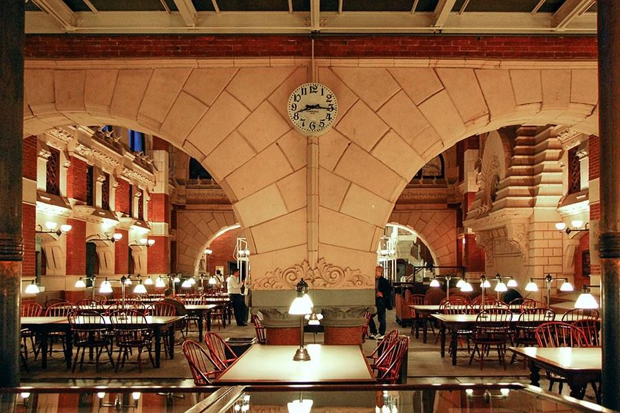 Completed in 1891 by architect Frank Furness, the Fisher Fine Arts Library at the University of Pennsylvania was added to the National Register of Historic Places in 1972 and became a National Historic Landmark in 1985. The following year the library launched a four-year, $16.5 million restoration led by a team that included Venturi, Scott Brown & Assoc., CLIO Group, and Marianna Thomas Architects.