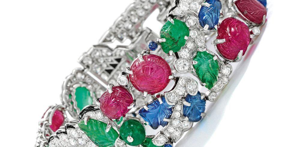 """<p>Last month a multi-coloured Cartier bracelet, created around 1930, broke a world record when it was sold during an online auction by Sotheby's. Pursued by five bidders, the Tutti Frutti bracelet (a style nicknamed for its juicy-looking carved rubies, sapphires and emeralds - pictured above) eventually sold for more than 1.3 million US dollars (over £1 million), becoming the most expensive jewel ever sold in a dedicated online sale, as well as the most expensive jewel sold so far in 2020. </p><p>Like many other industries, auction houses have had to adapt during the coronavirus pandemic, turning their jewellery sales - usually held in packed-out rooms in cities like Geneva, Hong Kong or New York - into online-only affairs. <br></p><p>""""The result achieved for this bracelet is testament to the fact that, even under the most challenging of circumstances, the demand for great art endures,"""" said Catharine Beckett, head of Sotheby's Magnificent Jewels Auctions in New York, at the time. """"Now...we can connect with the touch of a button, which [has] allowed us to engage with bidders worldwide.""""</p><p>It's not just the ability to reach a wider audience that has led  to this upswing in online bids. """"Any lasting resistance that people may have had to buying luxury goods online seems to have gone. Vendors no longer see offering valuable pieces on the web as somehow downgrading them. We've even had dormant clients, who may not have bought anything for years, being tempted back,"""" says David Warren, senior international jewellery director at Christie's. """"Not only that, but collections of very similar items, like jewelled clocks, now tend to sell better online as you don't get the same kind of 'auction fatigue' as when you sell to a live room.""""</p><p>Encouraged by its recent success, Christie's has just announced 22 more luxury sales from now until the end of July, almost half of which will be internet sales - including the sale of the largest D-coloured white diamond (the iciest,"""
