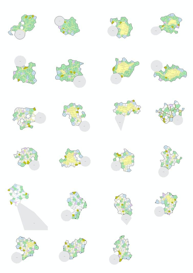 Care home layouts proposed by algorithm. Silvio Carta, Tommaso Turchi, Stephanie St Loe and Joel Simon, Author provided