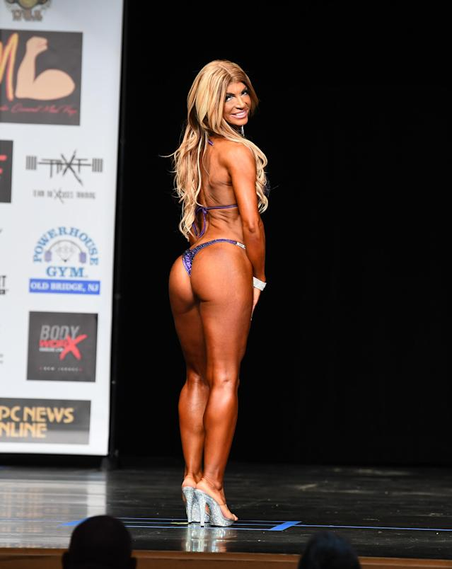 Teresa Giudice competed in the Bikini Division of the NPC South Jersey Bodybuilding Championships on June 9. (Photo: Getty Images)